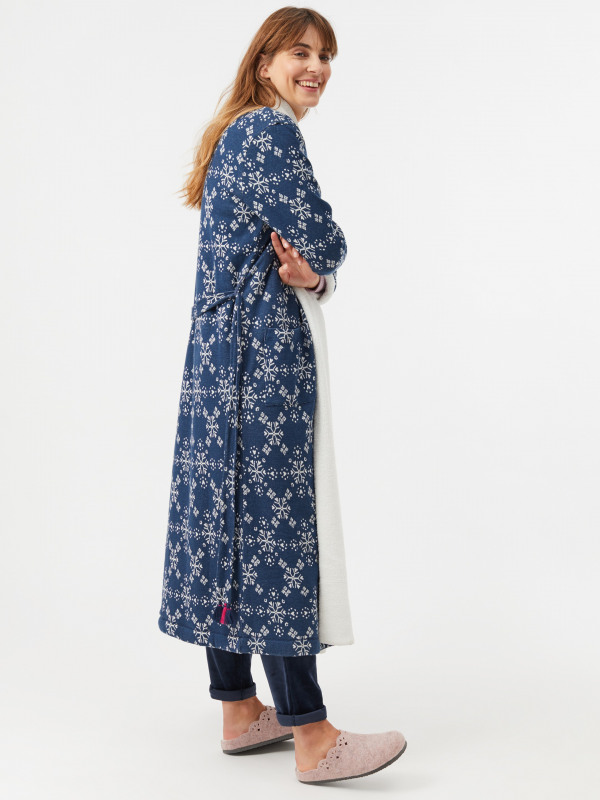 White Stuff Starry Heart Lng Jacquard Robe