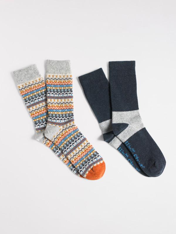 White Stuff Gavin Fairisle Sock 2 Pack