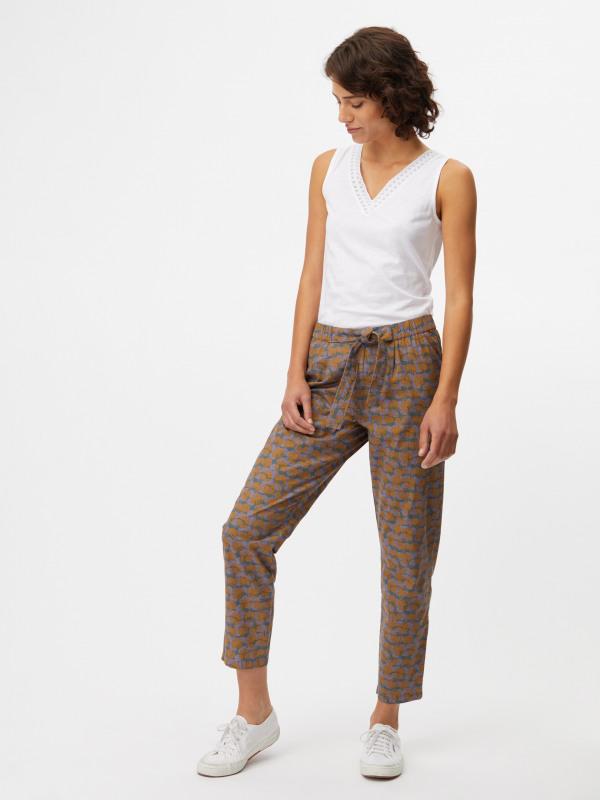 White Stuff Flora Poplin Print Trouser