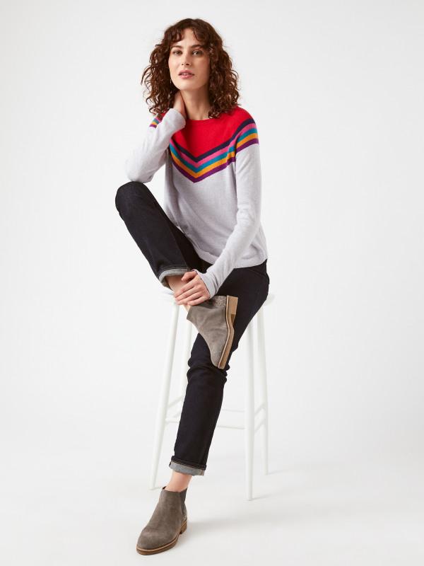 White Stuff Chalet Stripe Jumper