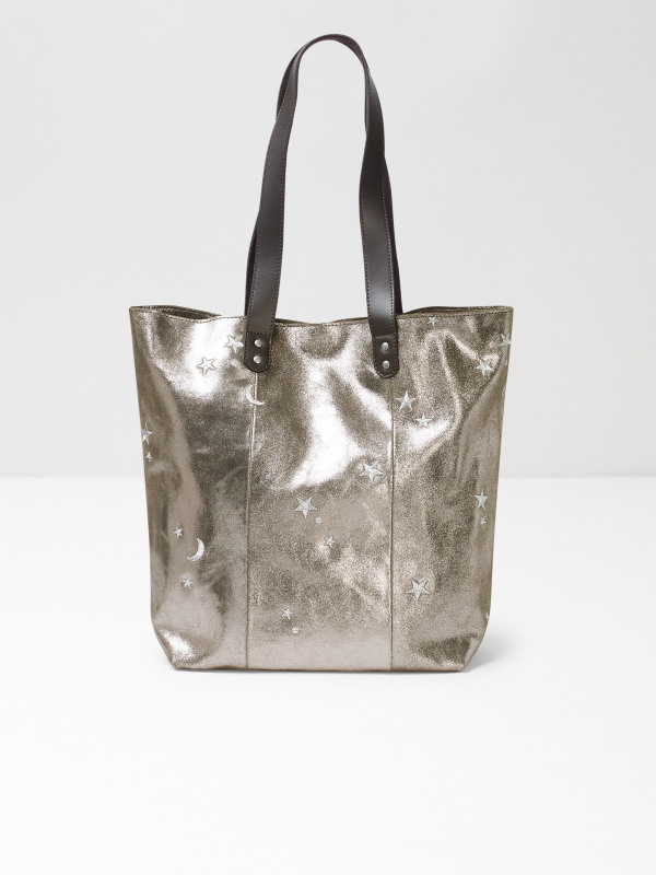 White Stuff Moon And Star Embroidered Tote