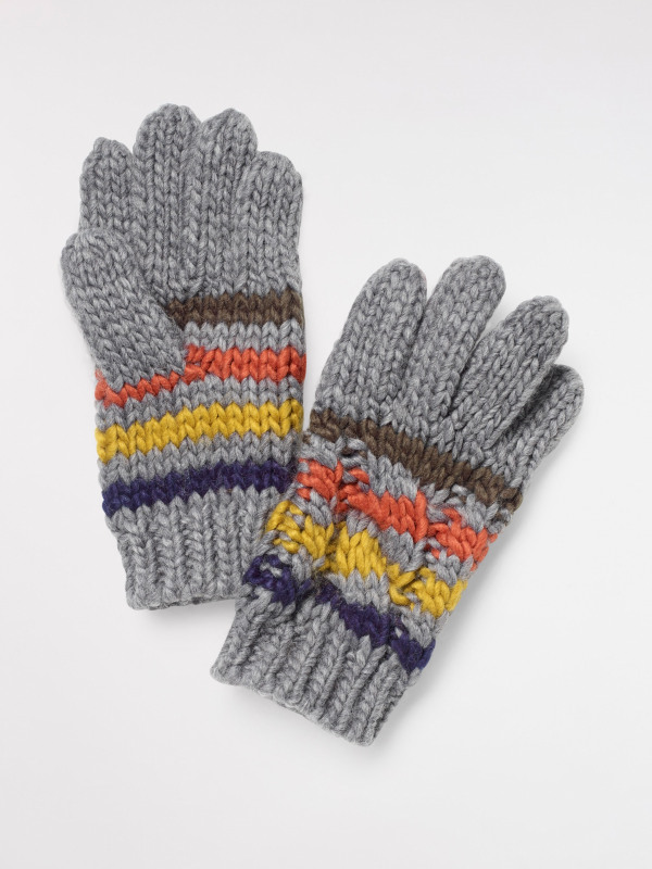 White Stuff Kids Cable Striped Gloves