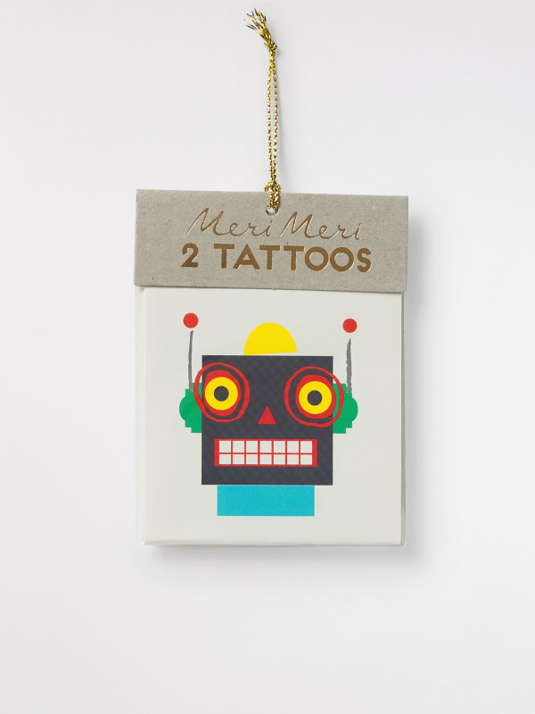 White Stuff Robots Tattoos