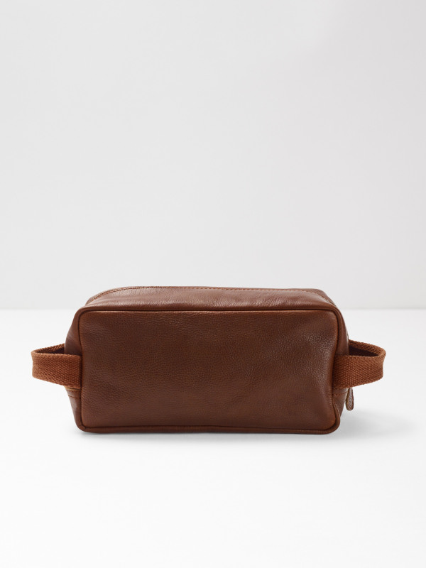White Stuff Leather Washbag