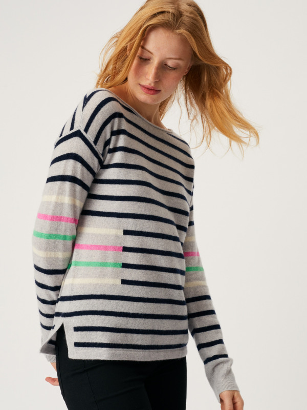 White Stuff Cashmere Willow Stripe Jumper