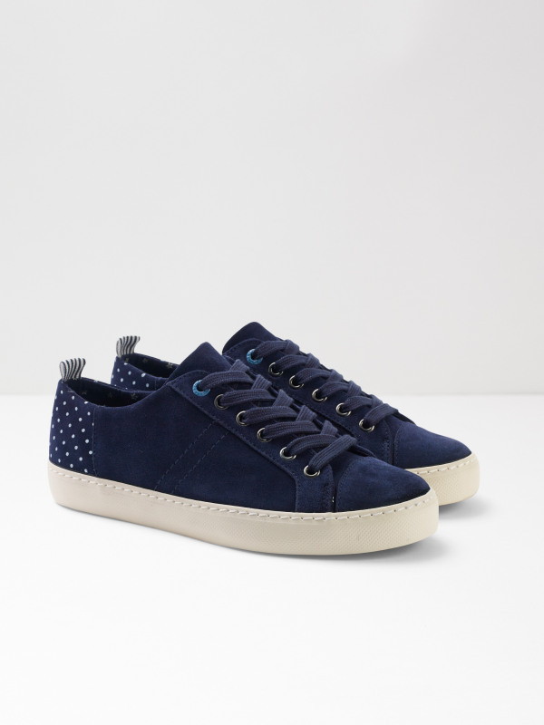 White Stuff Sally Contrast Lace Up Trainer