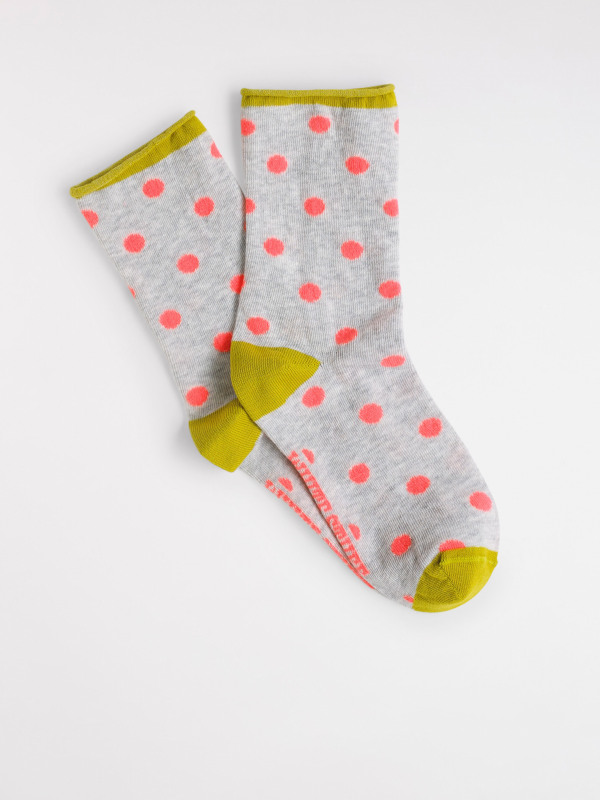 White Stuff Neon Spot Single Sock