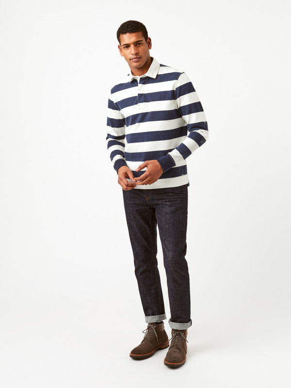 White Stuff Crossfield Long Sleeve Stripe Rugby