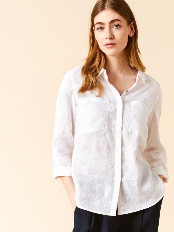 White Stuff Roller Linen Shirt