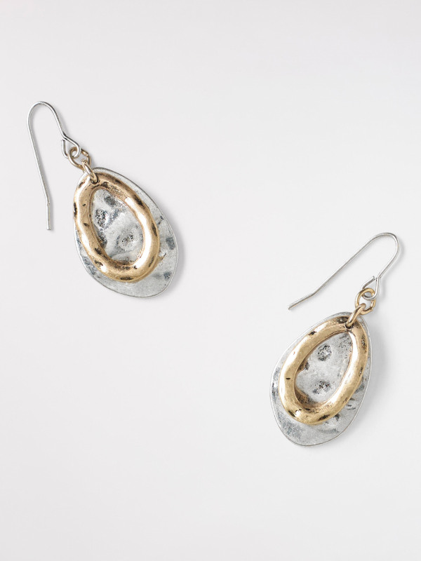 White Stuff Mixed Oval Drop Earring