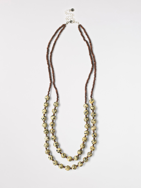 White Stuff Double Layer Safari Necklace