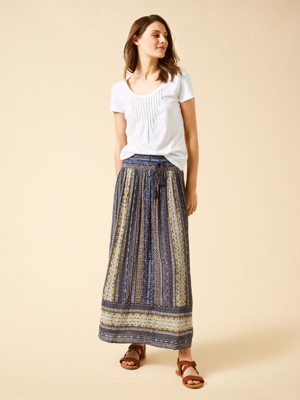 White Stuff Asha Crinkle Woven Maxi Skirt