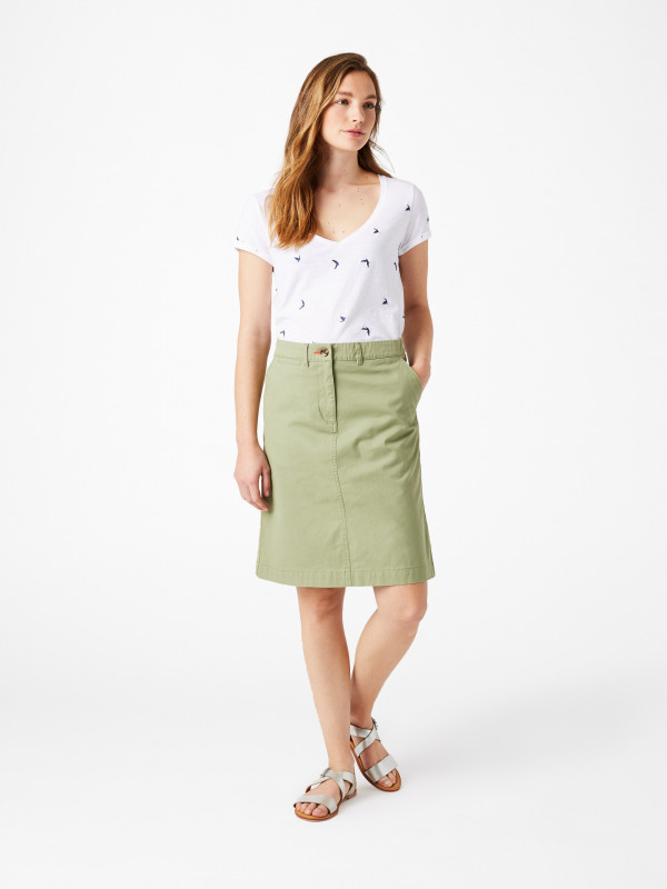 White Stuff Lindenberry Chino Skirt