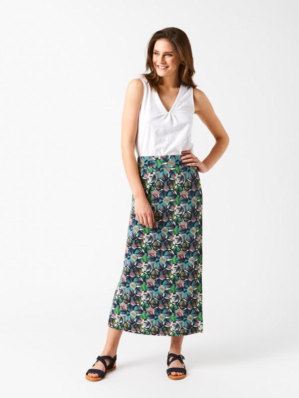 White Stuff Cali Maxi Jersey Skirt