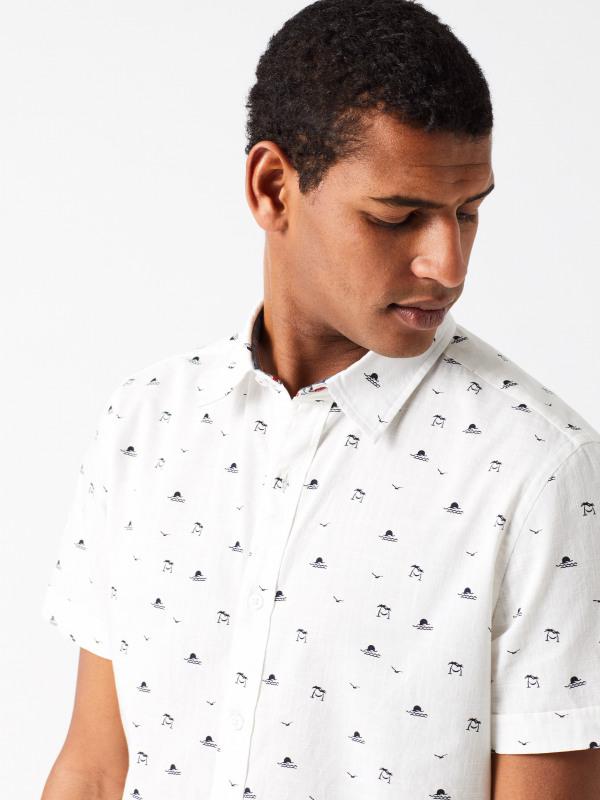 White Stuff Horizon Print Shirt