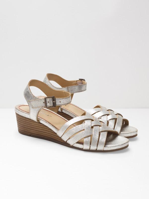 White Stuff Carrie Mid Heel Comfort Wedge