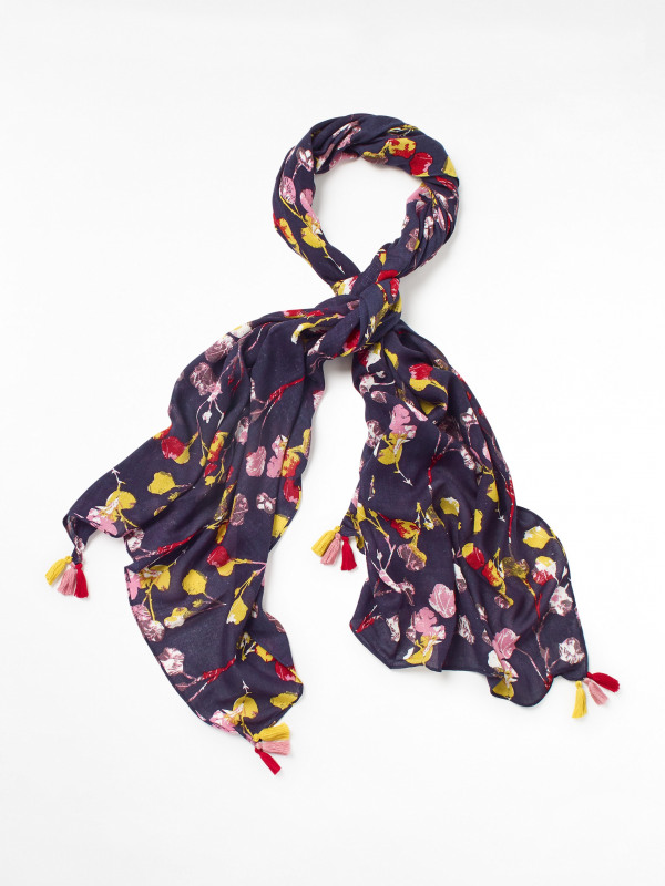 White Stuff Verity Printed Viscose Scarf