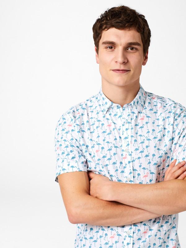 White Stuff Flamingo Print Shirt