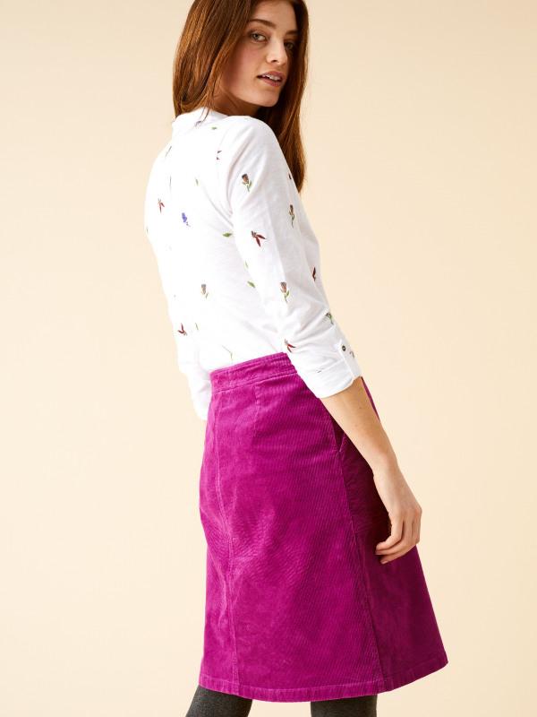 White Stuff Clocktower Bloom Cord Skirt