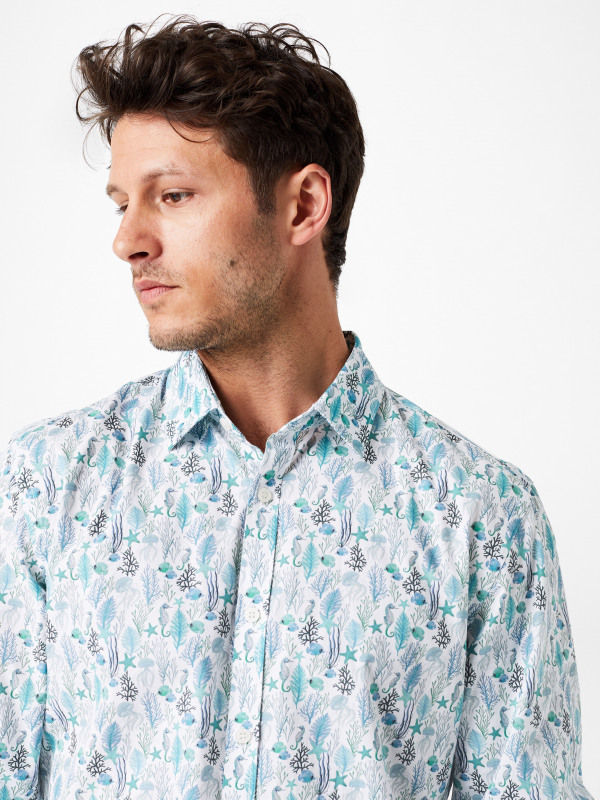 White Stuff Aquatic Print Shirt