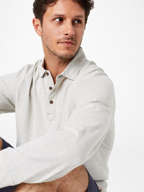 White Stuff Wimborne Marl Long Sleeve Polo