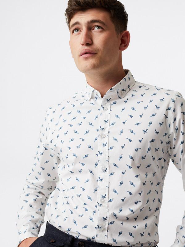 White Stuff Aldenham Bird Print Shirt