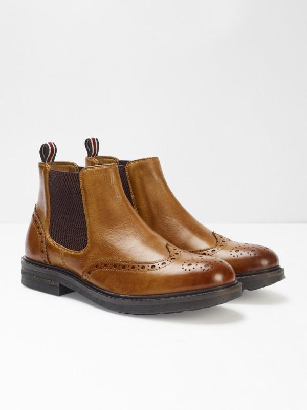 White Stuff Carter Brogue Chelsea Boots
