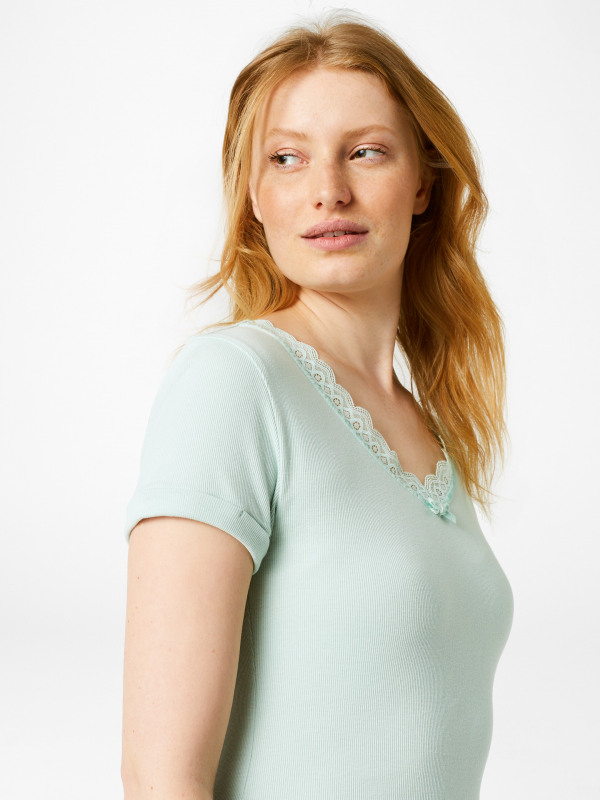 White Stuff Short Sleeve Holly Lace Tee