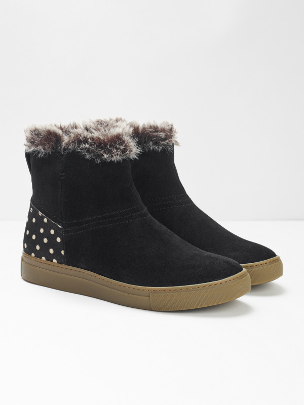 White Stuff Ivy Faux Fur Ankle Boots