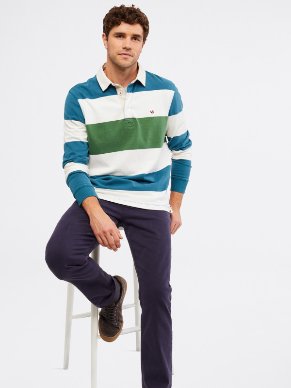 White Stuff Crossfield Colour Block Rugby