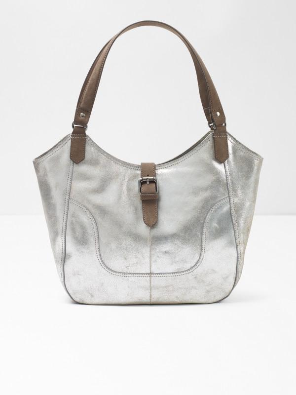 White Stuff Bonnie Metallic Leather Hobo