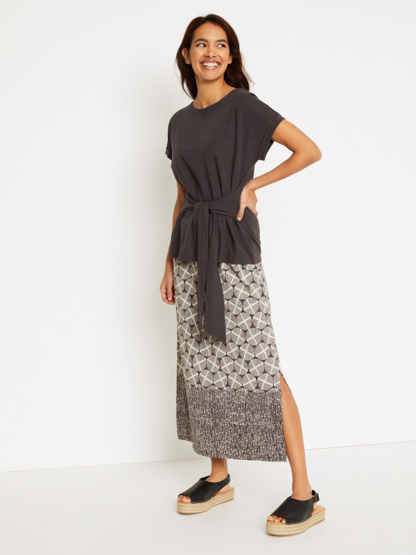 White Stuff Warli Jersey Maxi Skirt