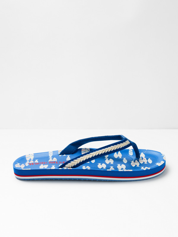 White Stuff Koi Fish EVA Flip Flops