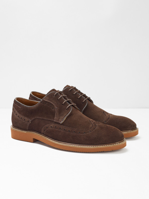 White Stuff Bobby Suede Brogue Shoes