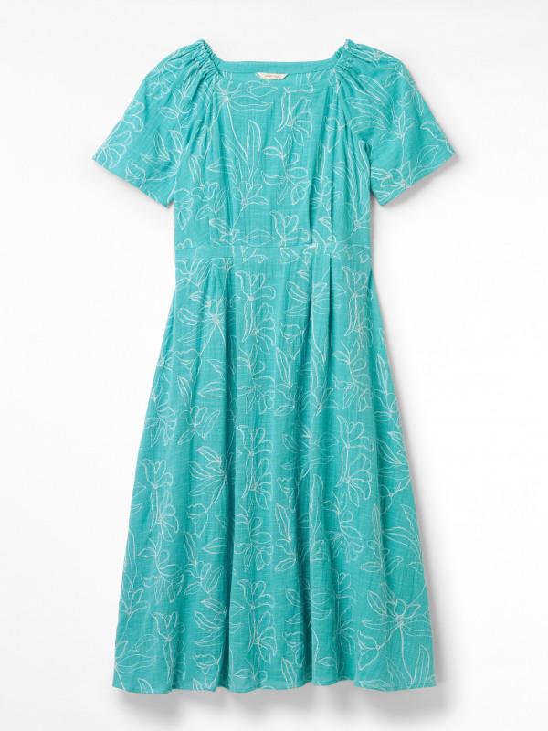 White Stuff Ebony Embroidered Dress