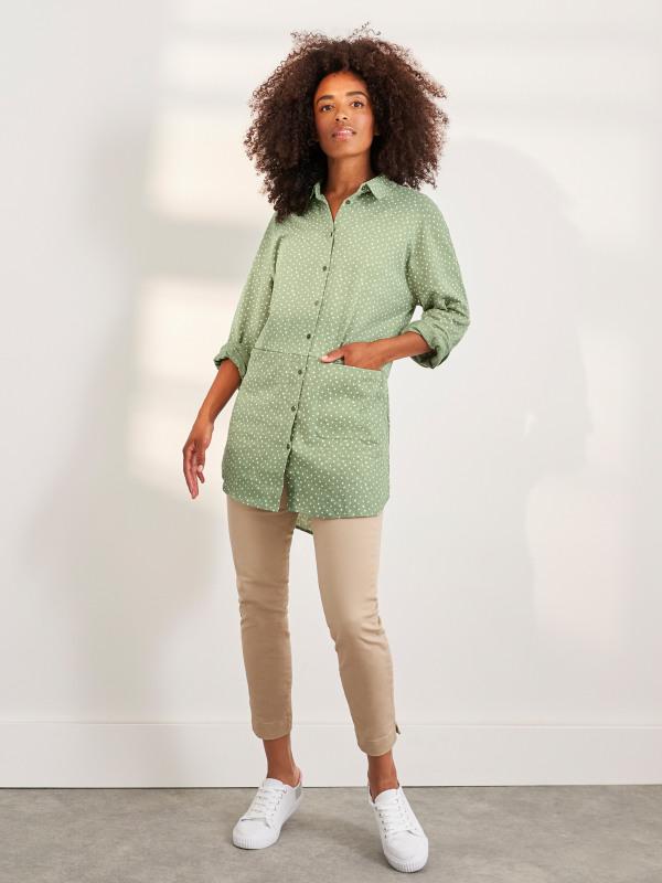White Stuff Sewing Collared Jersey Tunic