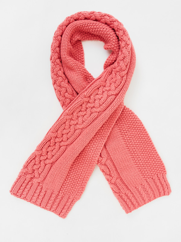 White Stuff Penny Cable Knit Scarf
