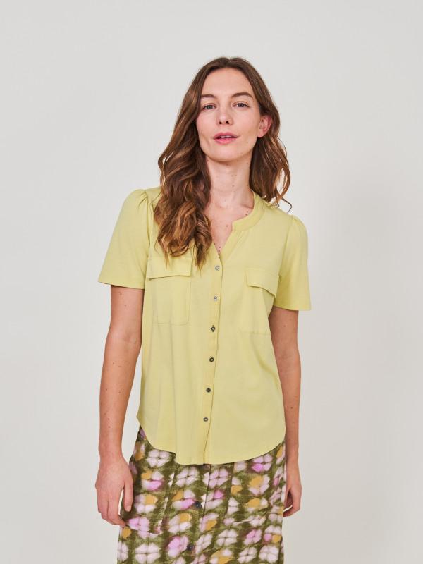 White Stuff Short Sleeve Fenella Jersey Shirt
