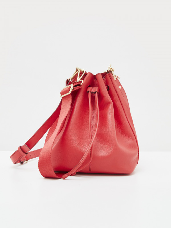White Stuff Bella Leather Bucket Bag