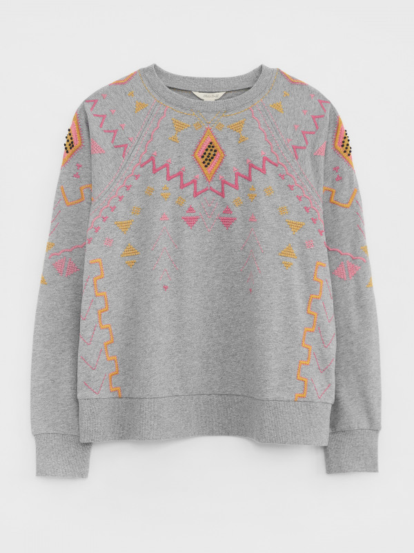White Stuff Eden Embroidered Sweat