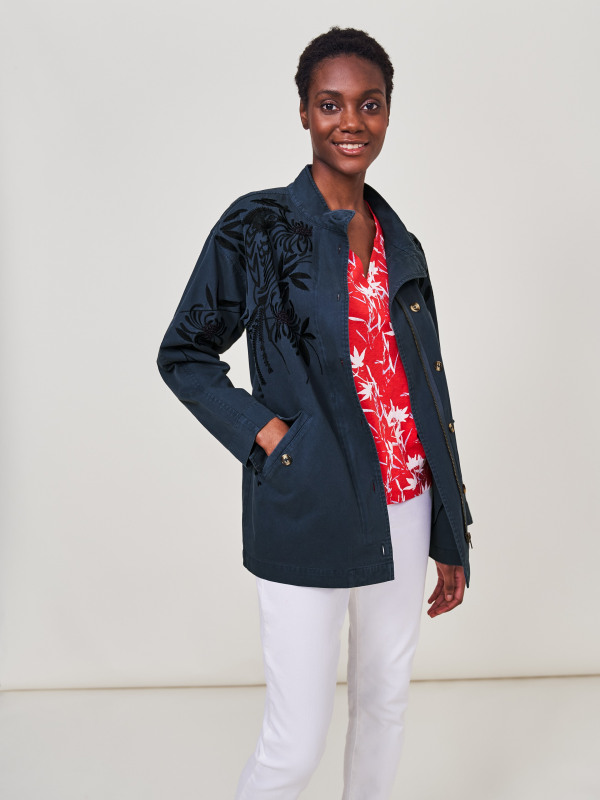 White Stuff Harey Embroidered Jacket