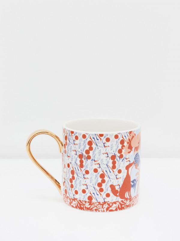 White Stuff Botanical Patchwork Mug