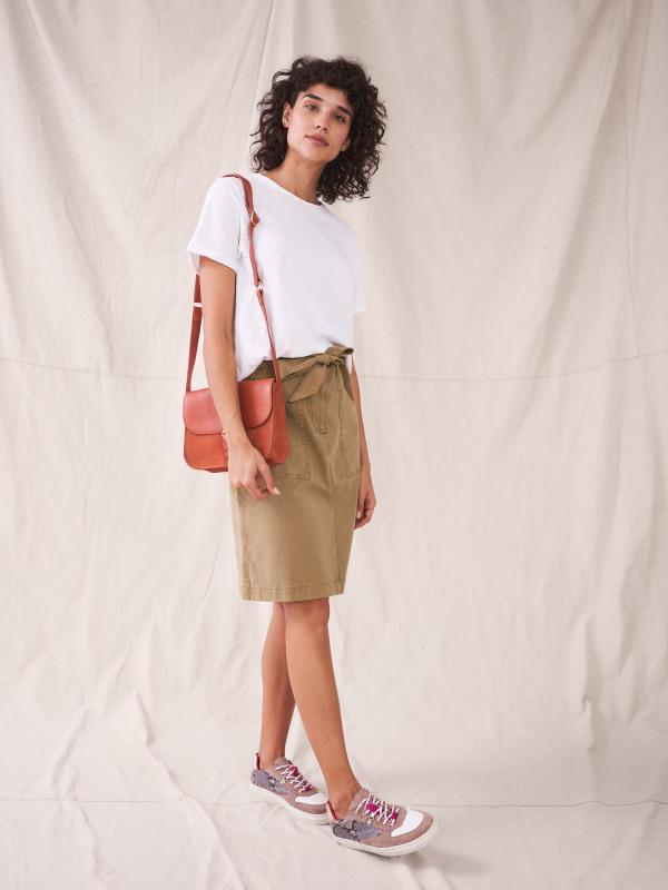 White Stuff Twister Organic Chino Skirt