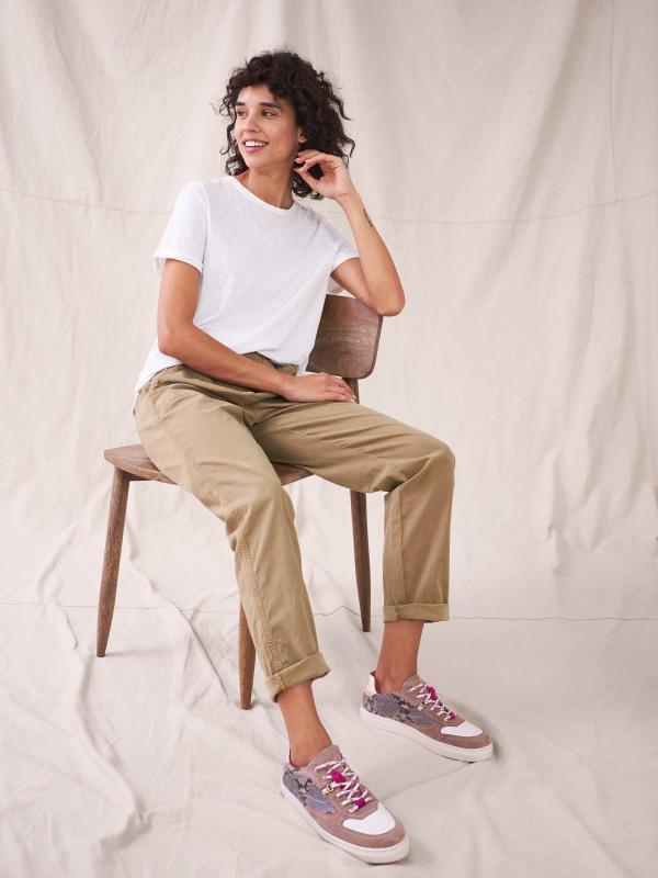 White Stuff Twister Organic Chino Trousers