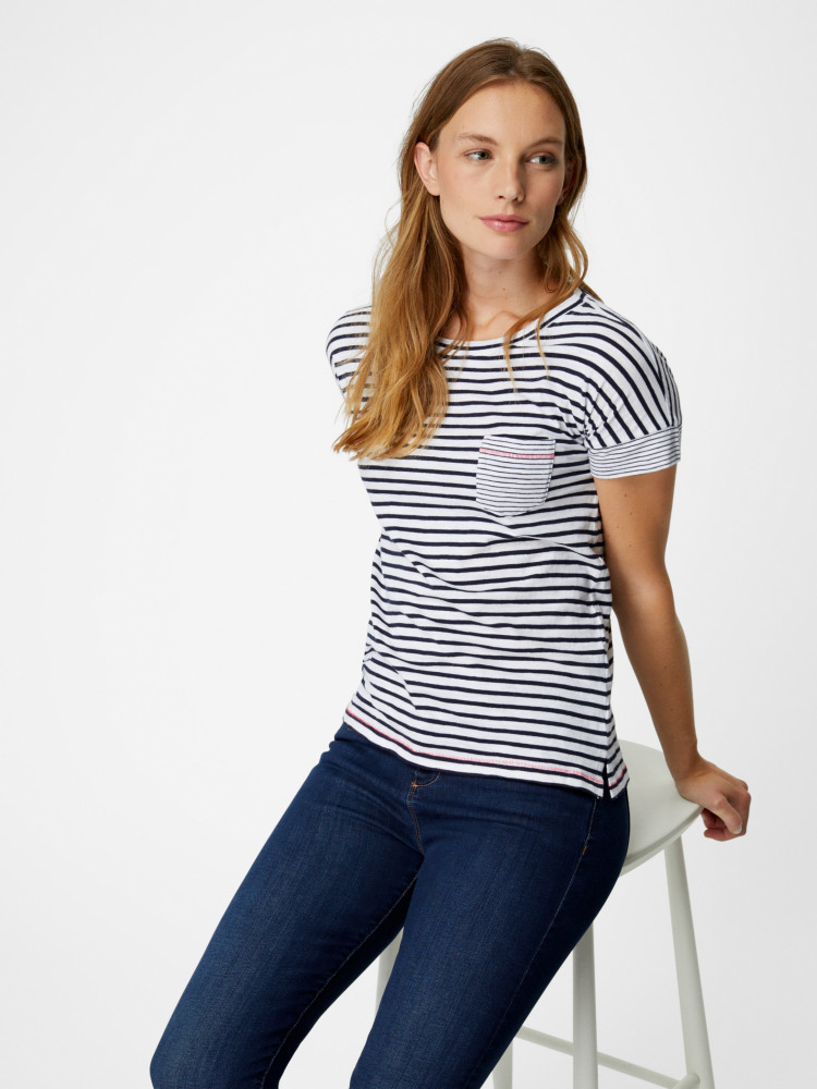 Summer Stripe Jersey Tee