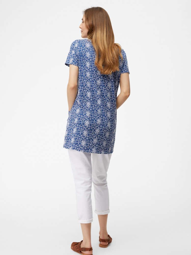 Embroidered Daisy Jersey Tunic