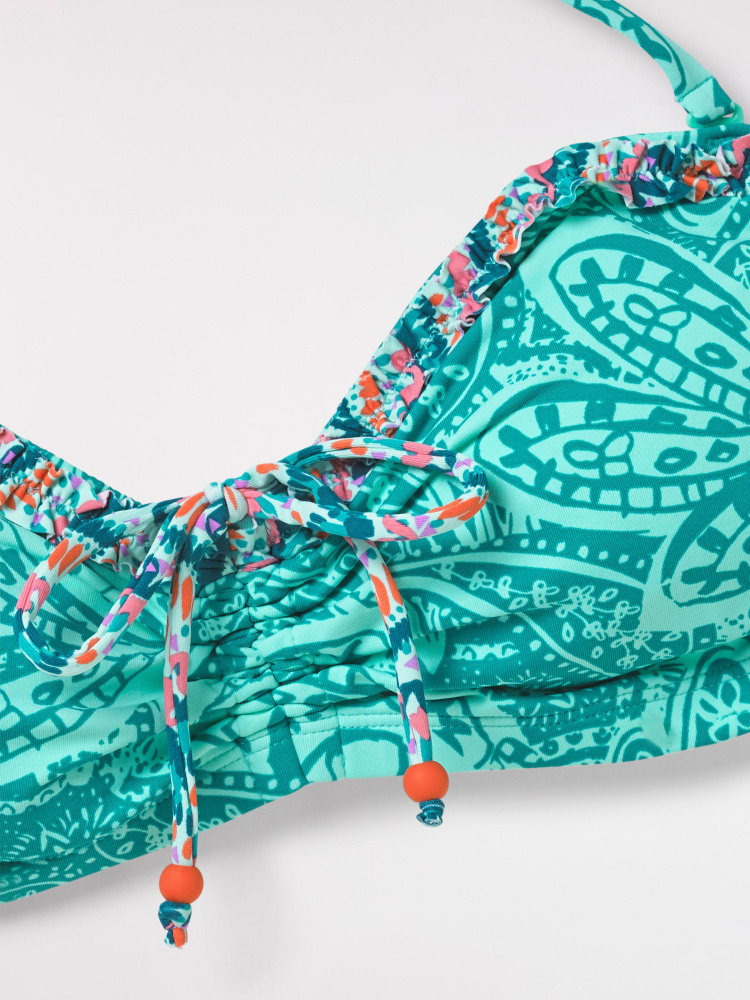 Pop Paisley Bandeau Top