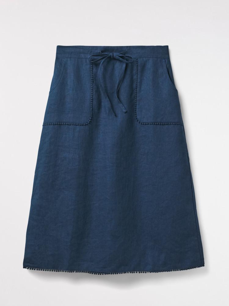 Portia Plain Linen Skirt