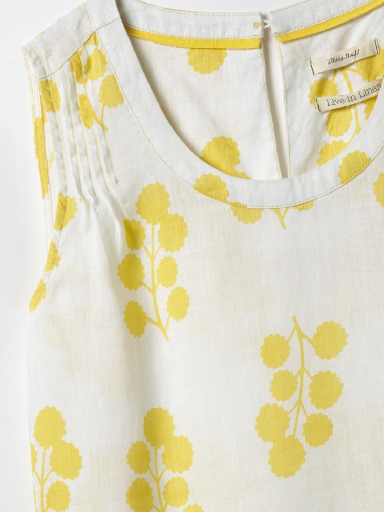 Olive Sprig Linen Tunic
