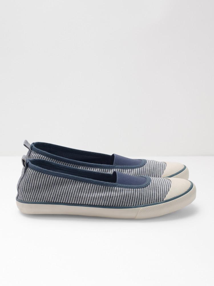 Pippa Stripe Plimsolls